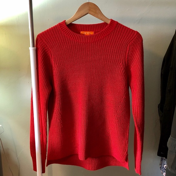 Burnt Orange Knit Sweater Joe Fresh